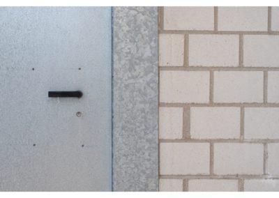 Detail der Baustellentür